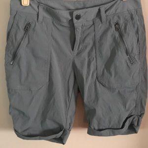 Athleta gray Shorts cool moisture wicking nylon-6